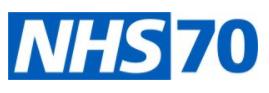 NHS 70 logo
