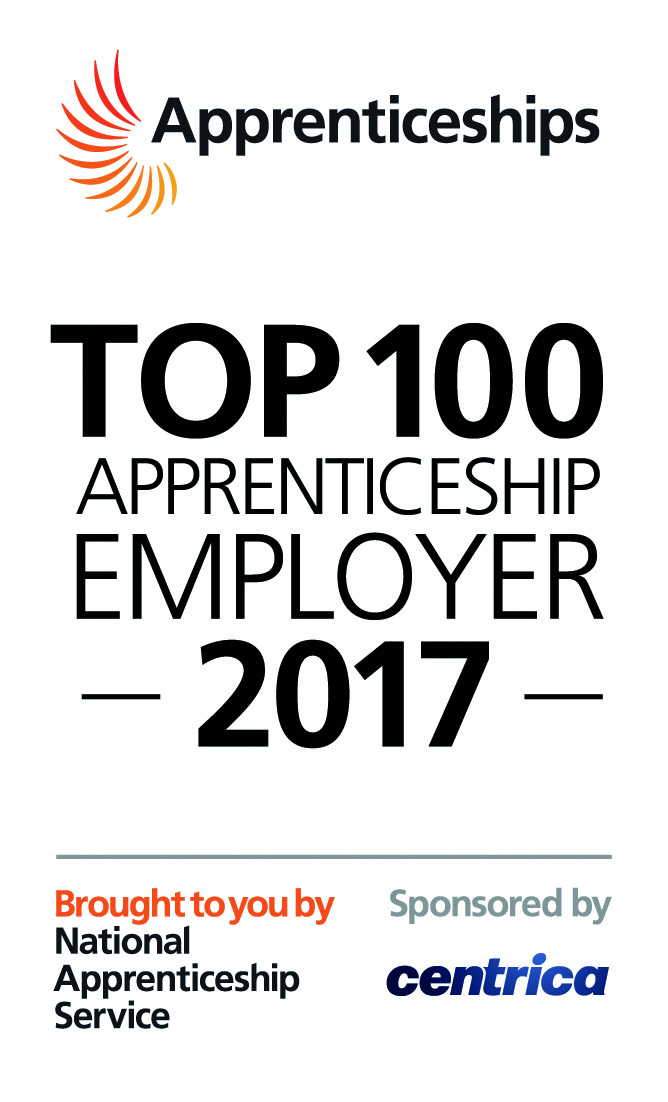 Top 100 Apprenticeship Employer 2017 Award logo