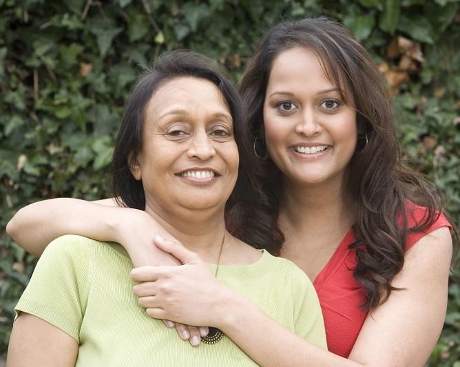 Swati and her mother Kanchan embracing