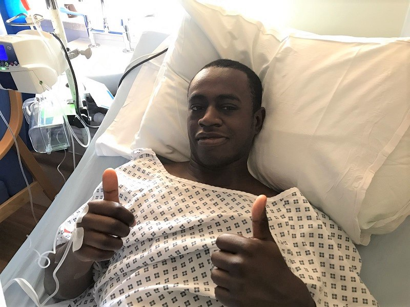 Dad, Lawrence, in hospital after his donation